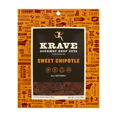 Krave, Beef Jerky Sweet Chipotle, 2.7 Oz (Sweet Baby Rays Honey Chipotle Beef Jerky)