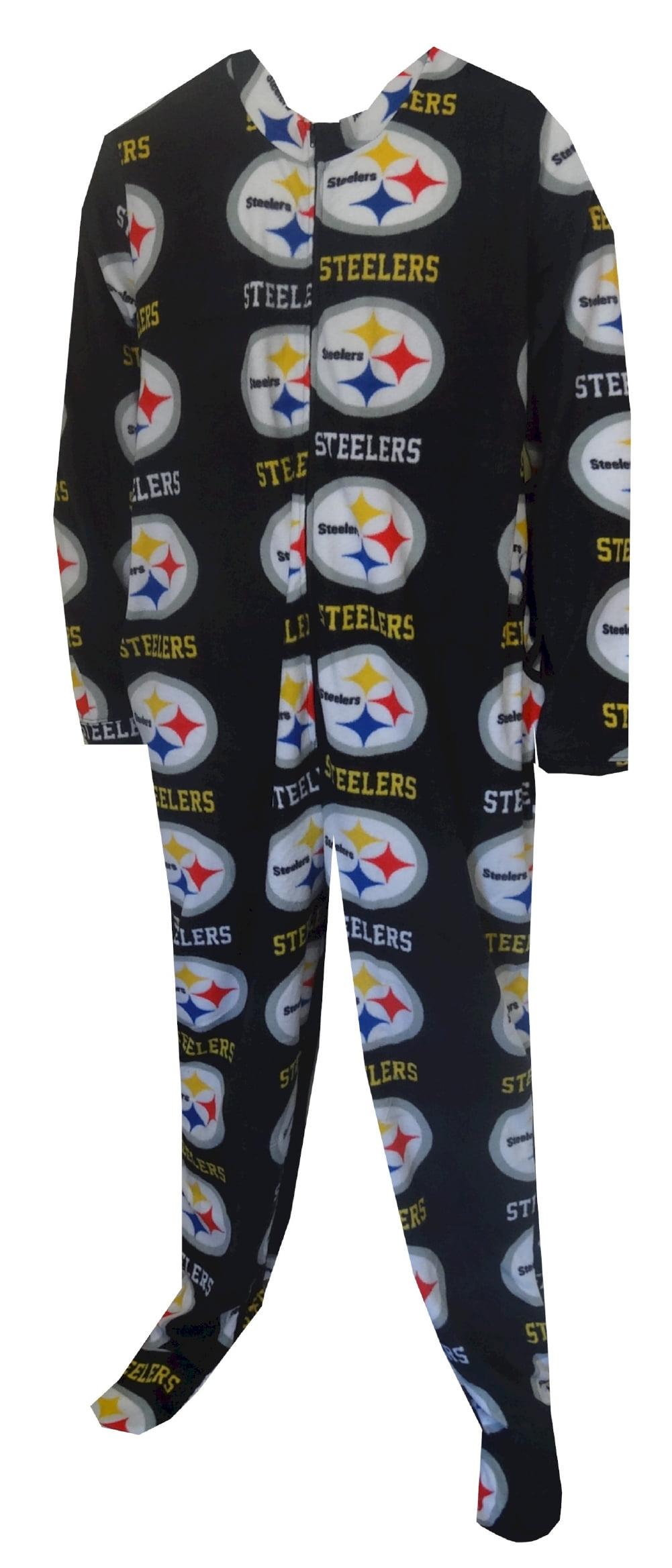 2c1fbaa2c0 Pittsburgh steelers guys one piece footie black pajama jpg 1001x2337 Steelers  robes for men