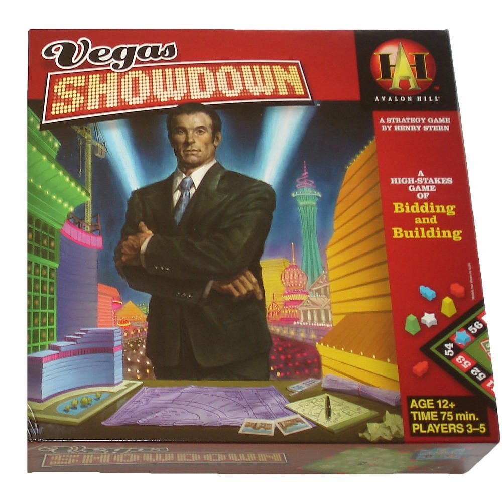 - Vegas Showdown, Vegas Showdown is suitable for 3 to 5 players By Avalon Hill by