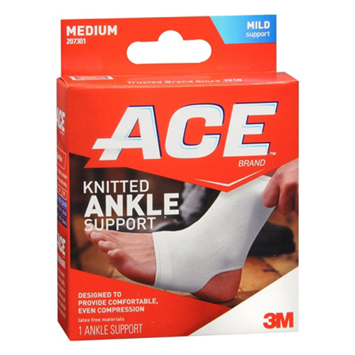 Ace Ankle Brace Of Size: 8.25-10 Inches, #7301, Medium - 1 Ea