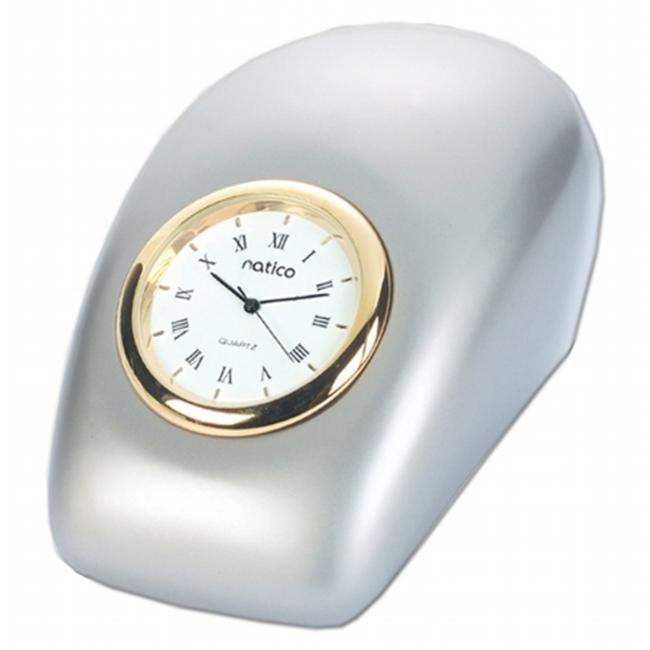 Natico Originals 10-P792 Clock Tron  Pearl Silver