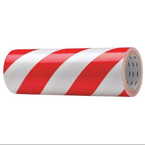 "Red/White Safety Warning Tape, Value Brand, 8AAC312""W"