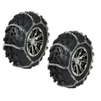 Raider, REAR ATV Tire Chains PAIR compatible with 1997-2017 Honda Recon 250 TRX250 TRX250TE TRX250TM