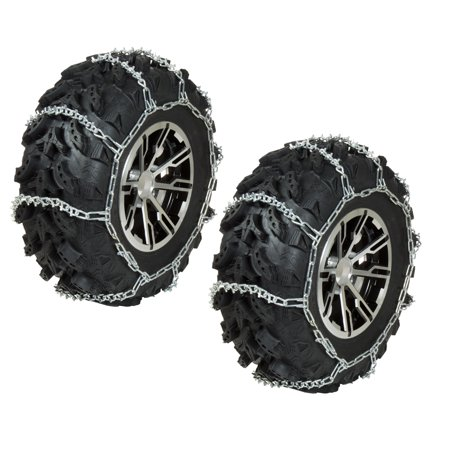 FRONT ATV Tire Chains V-Bar PAIR 2003-2013 Polaris Trail Boss 330 2x4