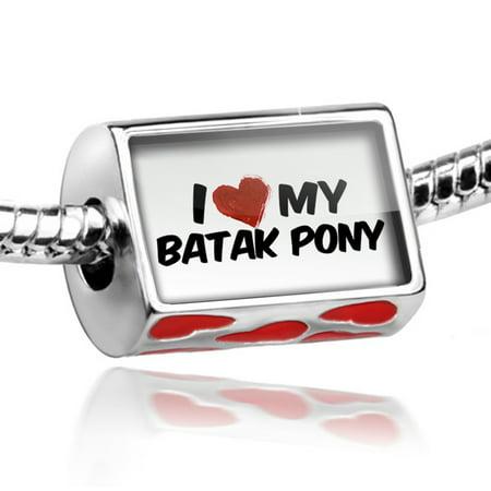 Bead I Love My Batak Pony  Horse Charm Fits All European Bracelets