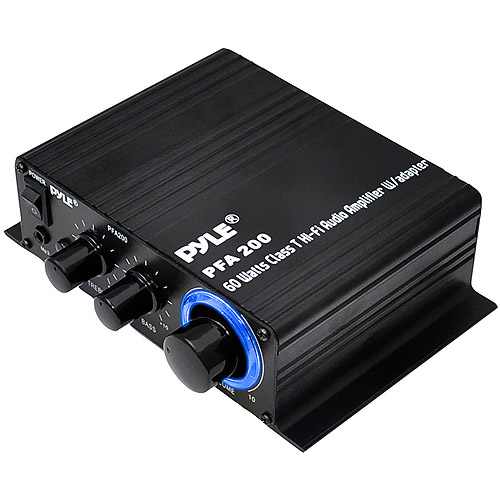 Pyle PFA200 60W Class T Hi-Fi Amplifier with AC Adapter