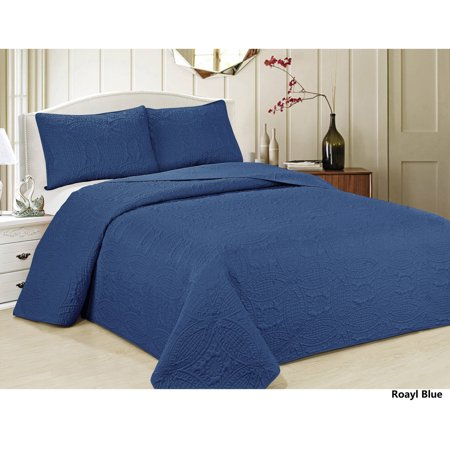 Oversized 3 Piece Bedspread Set With Geometric Pattern