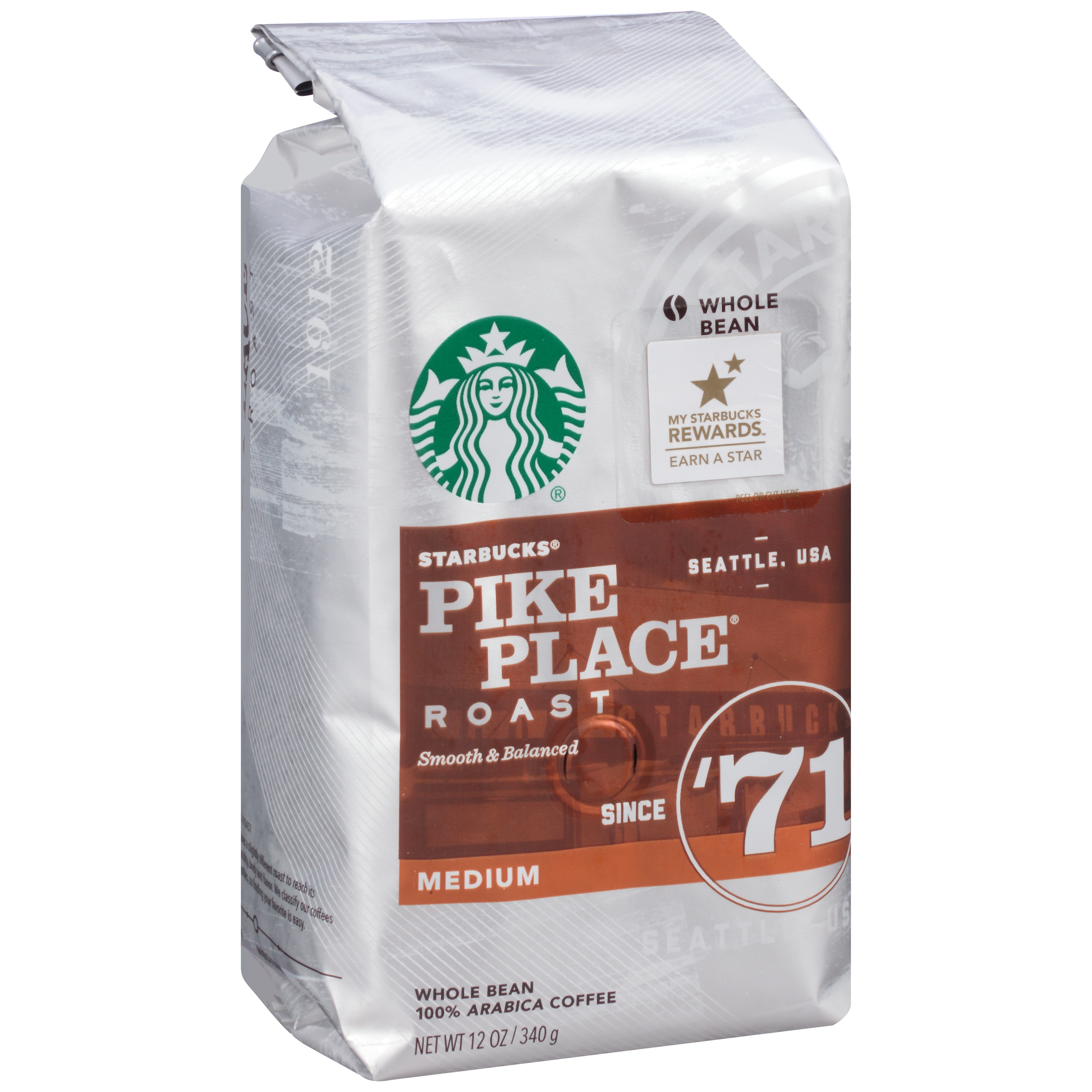 Starbucks® Pike Place® Roast Smooth & Balanced Medium 12 oz. Package