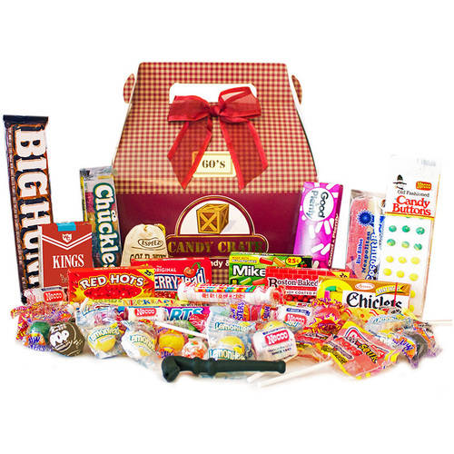 Candy Crate 1960's Retro Candy Gift Box, 2.5 lbs