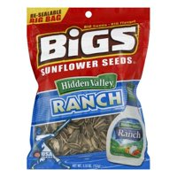 Bigs Zesty Ranch Sunflower Seeds, 5.35 OZ (Pack of 8)