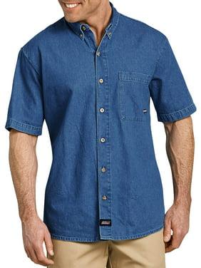 Men's Short Sleeve Button Down Denim Shirt