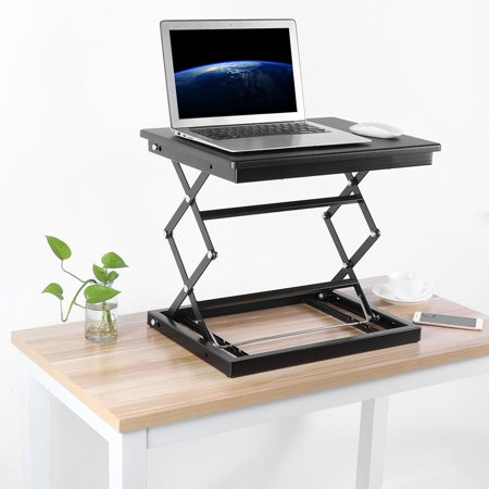 CHICIRIS Stand Up Desk, Height Adjustable Standing Laptop Desk Stand Up lift Table for Notebook Computer