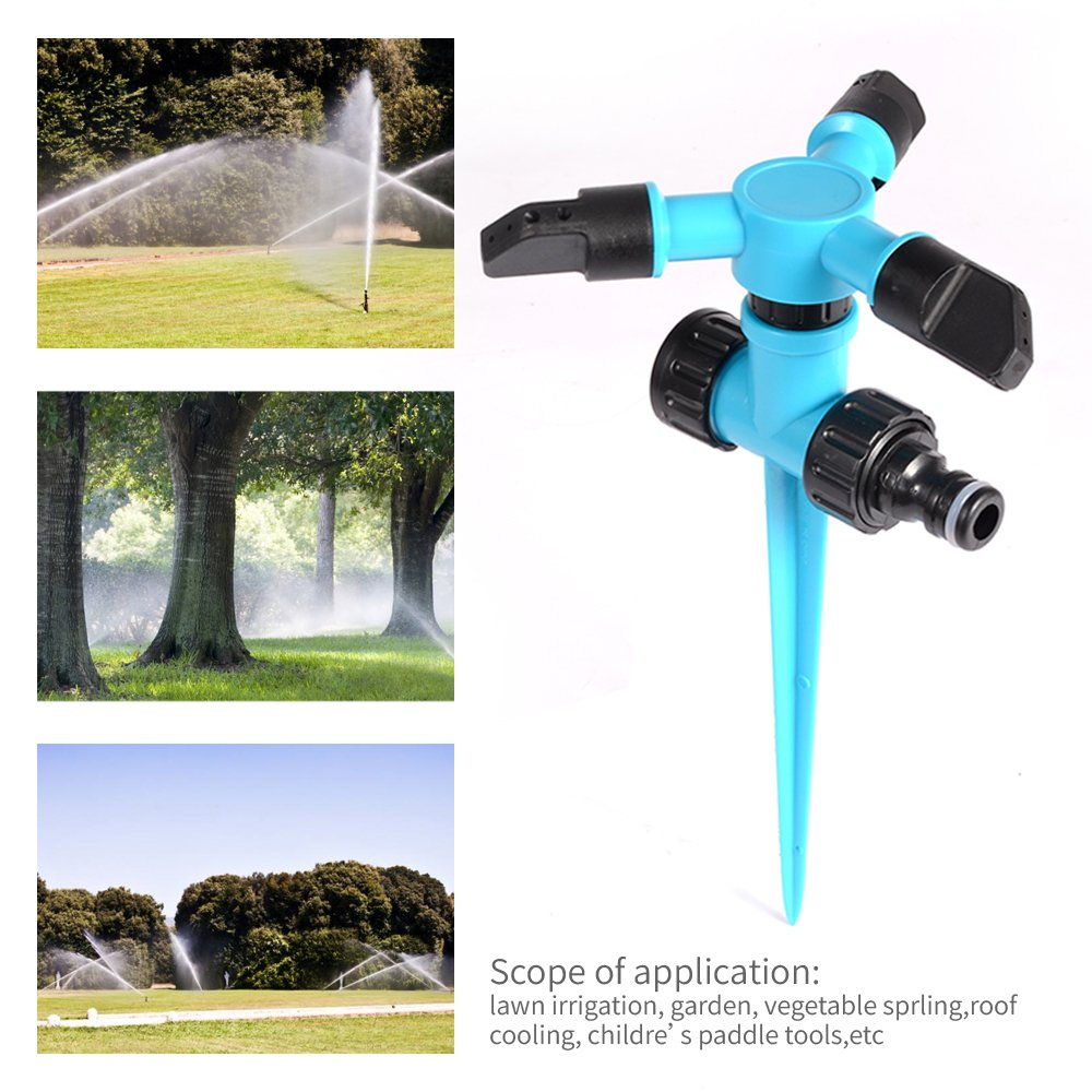 KEEPMOVE Garden Sprinkler,Upgrade Lawn Sprinkler Automatic 360 Degree Rotating Irrigation Sprinkler System Garden Hose Sprinkler for Yard//Built in 36 Units Angle Spray Nozzles