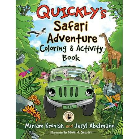Quickly's Safari Adventure Coloring & Activity Book - Leaf Safari Adventure