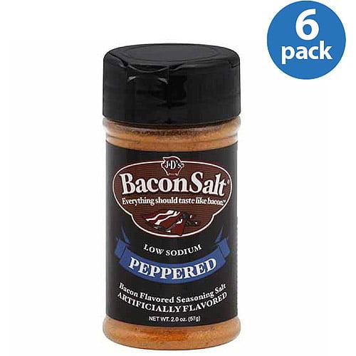 J&D's Peppered Bacon Salt, 2 oz (Pack of 6)