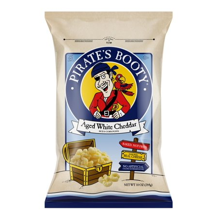 Pirate's Booty Aged White Cheddar Puffs, 10 O.z Big Bag White Cheddar Bunnies