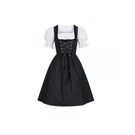 Leezo Women French Maid Cosplay Costumes Dress Oktoberfest Halloween