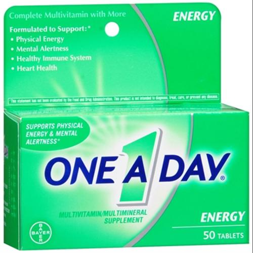 One-A-Day All Day Energy Tablets 50 Tablets (Pack of 2)