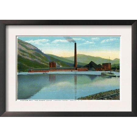 Berlin, New Hampshire, Southern View of the Cascade Mill an... Framed Art Print Wall Art
