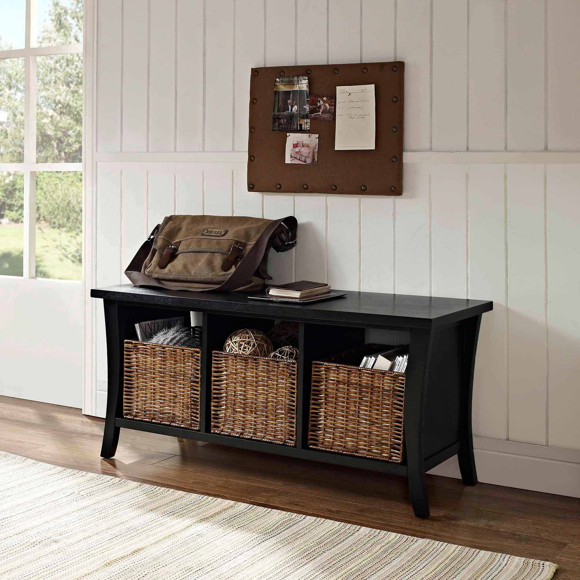 Crosley Furniture Wallis Entryway Storage Bench   Walmart.com