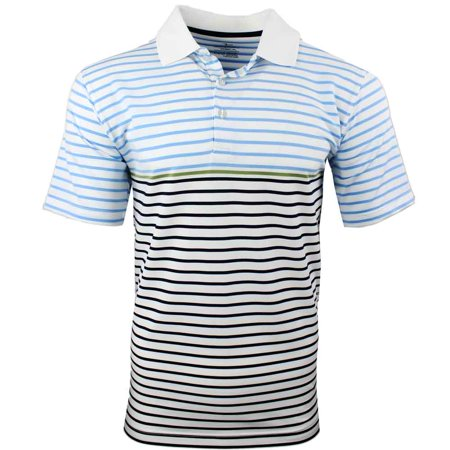 Page & Tuttle Mens Feed Stripe  Golf Casual  Polo -