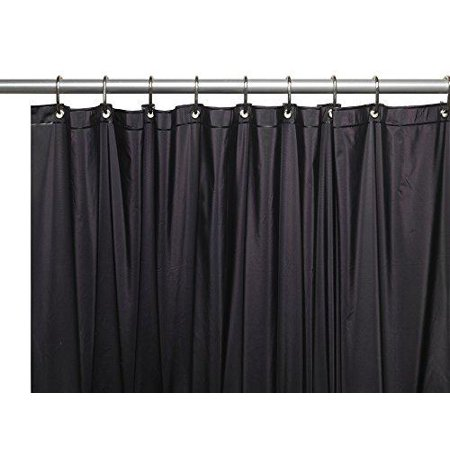 Royal Bath Extra Long 5 Gauge Vinyl Shower Curtain Liner With Metal Grommets In Black Size
