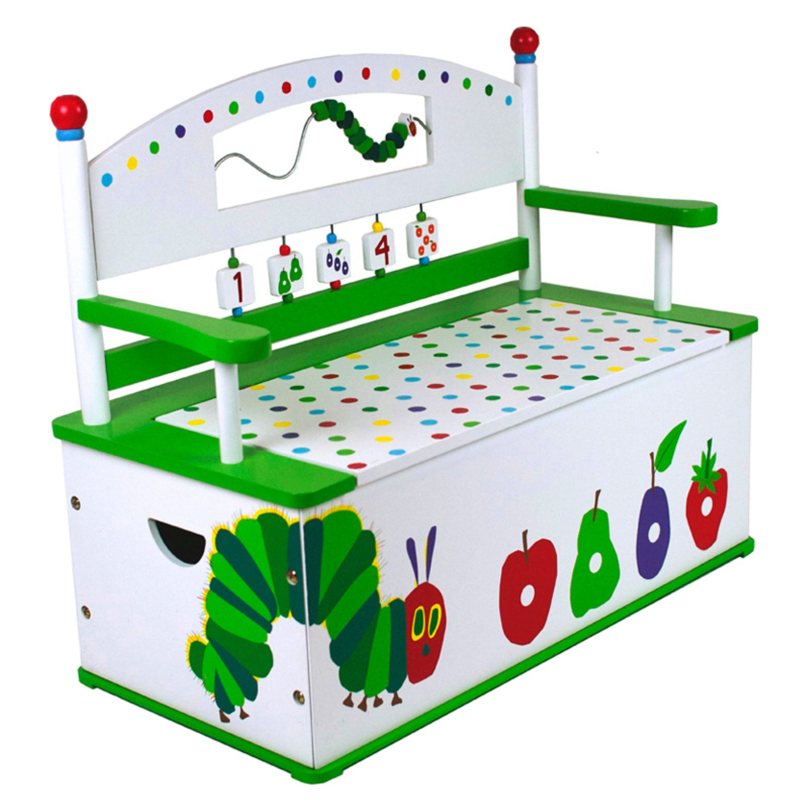 Wildkin Very Hungry Caterpillar Bench Seat w/ Storage