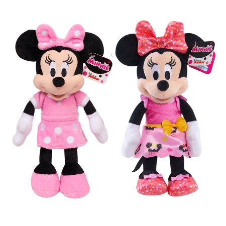 Minnie Mouse Bean Plush- 2 Pack Bundle (Giant Minnie Mouse)