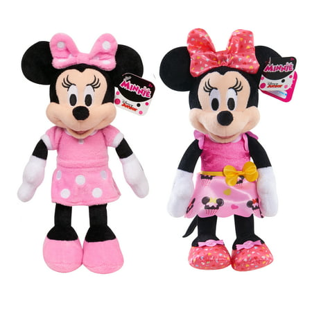 Minnie Mouse Bean Plush- 2 Pack Bundle](New Minnie Mouse Toys)