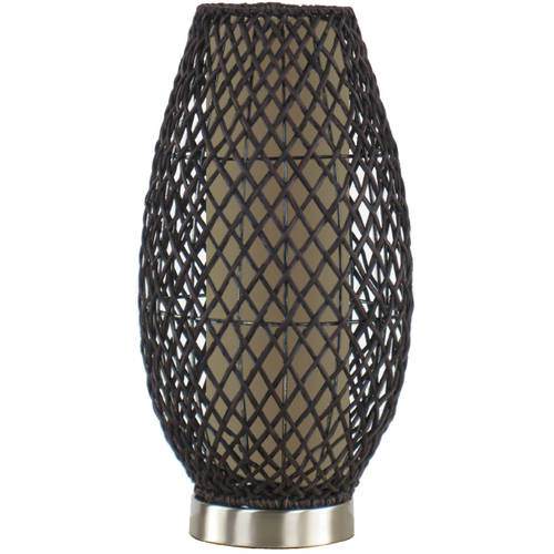 Hometrends Dark Brown Rattan Accent Lamp