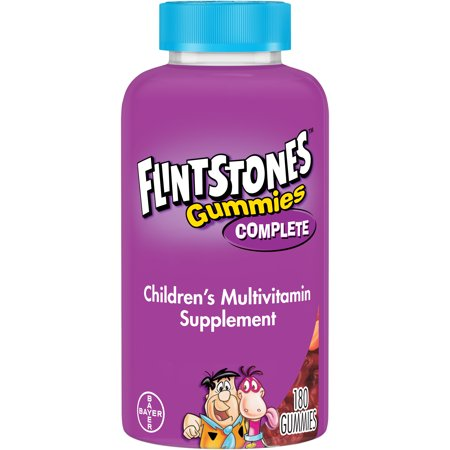 Flintstones Gummies Complete Childrenâs Multivitamins, Kids Vitamin Supplement with Vitamins C, D, E, B6, and B12, 180 - Multivitamin 180 Tabs Naturally Vitamins