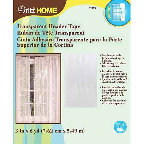 "Transparent Header Tape, 3"" x 6 yds"