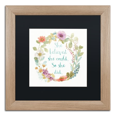 Lisa Audit 'Rainbow Seeds Wreath I' Matted Framed Art