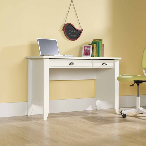 Sauder Shoal Creek Computer Desk, Soft White