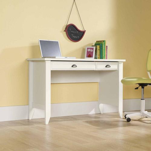 Sauder Shoal Creek Computer Desk, Soft White