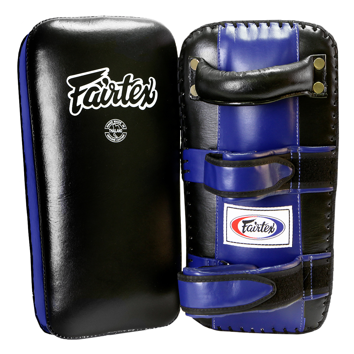 Fairtex Extra Long Thai Kick Pads - Black/Blue