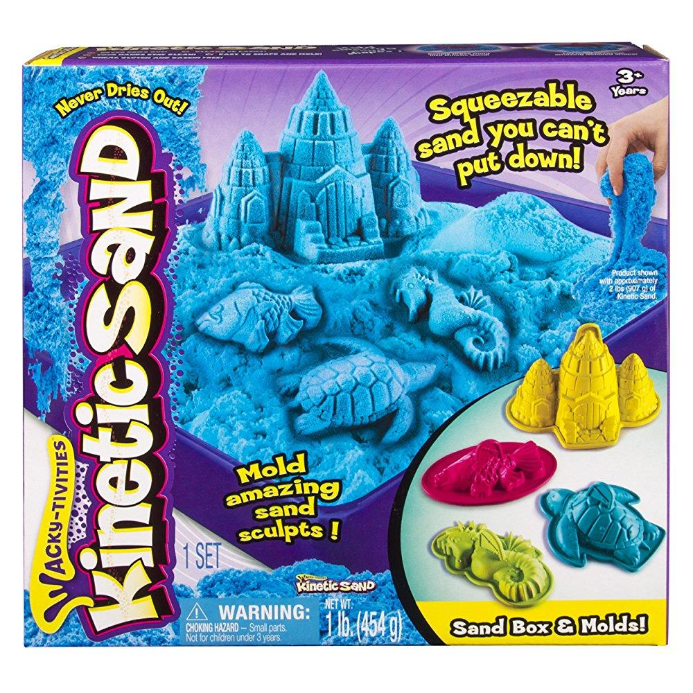 Spin Master Kinetic Sand - Sandbox & Molds Activity Set (Colors Vary)
