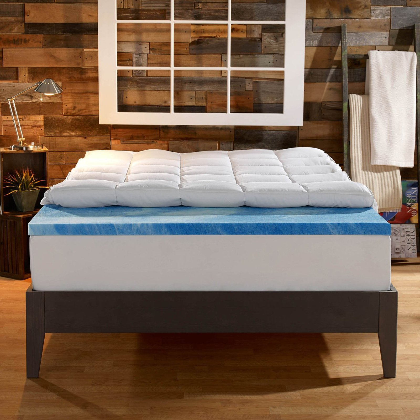 Sleep Innovations 4 in. Dual Layer Mattress Topper - Gel ...