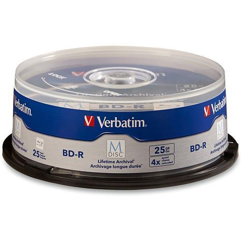Verbatim 98909 BD R 25GB 4X Brded Surf Spndle