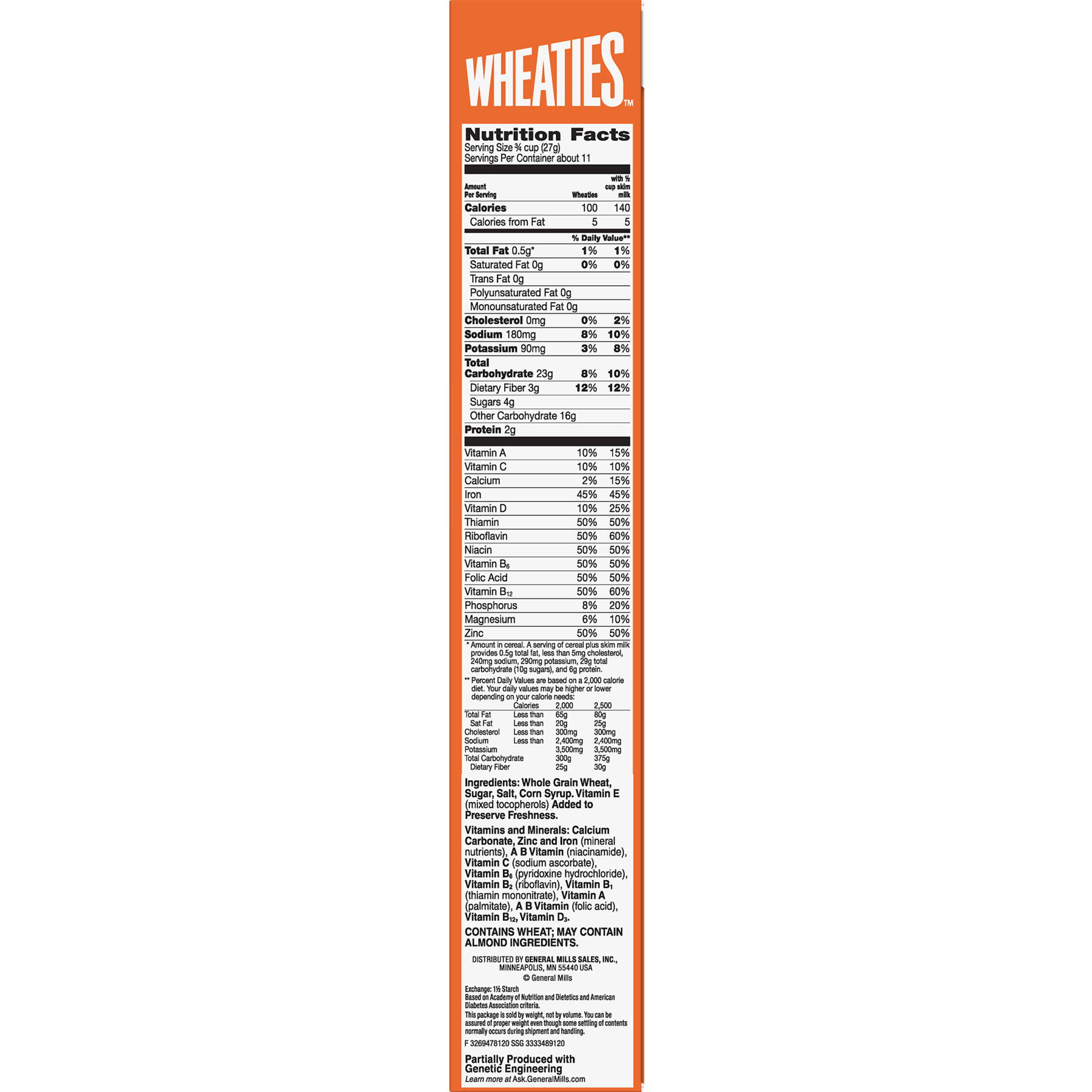 wheaties cereal, 10.9 oz - walmart