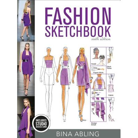 Fashion Sketchbook : Bundle Book + Studio Access (Fashion Sketchbook By Bina Abling 6th Edition)