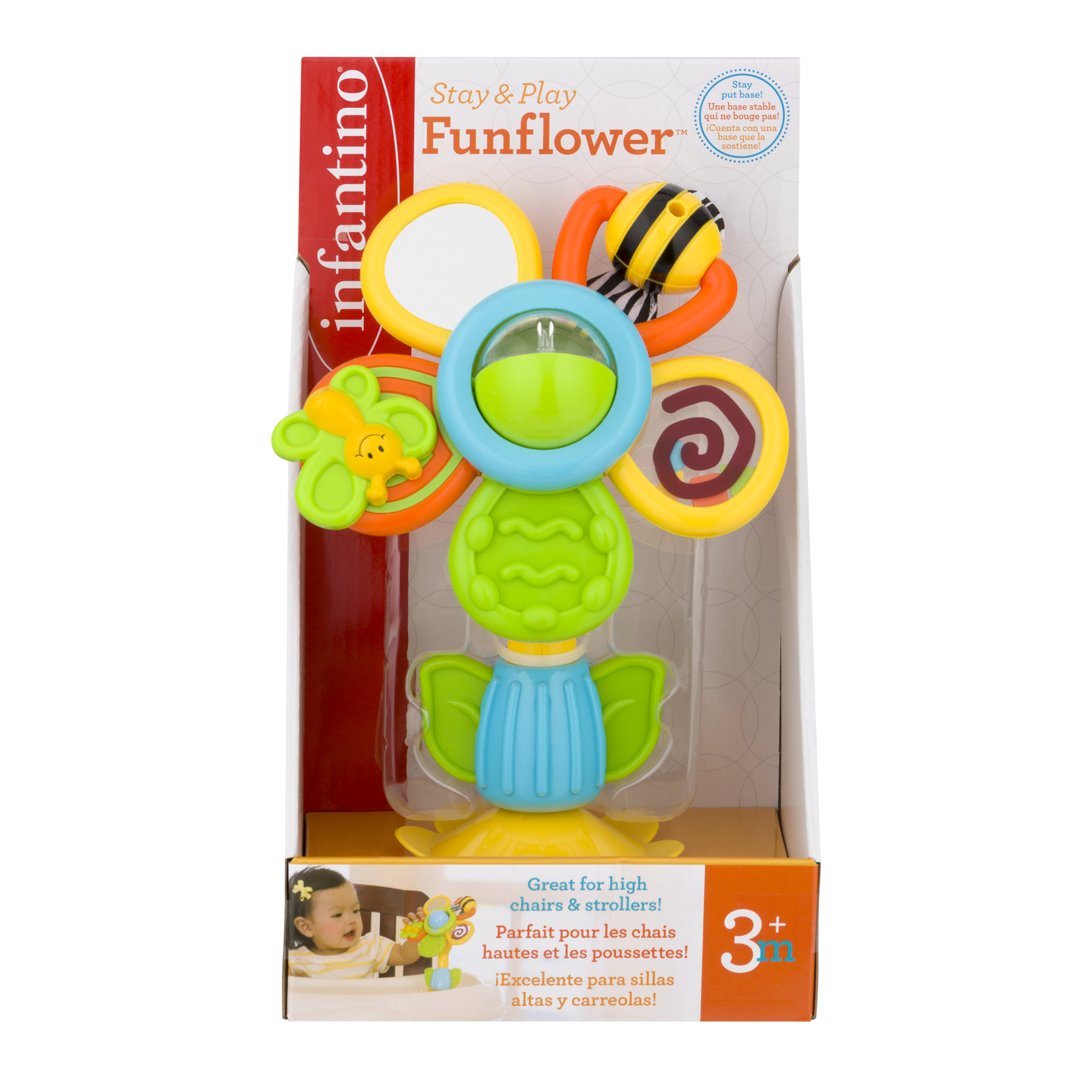 Infantino Stay & Play Fun Flower 3+m, 1.0 CT by Infantino