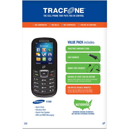 TracFone Samsung S150G Prepaid Cell Phone with Double Minutes