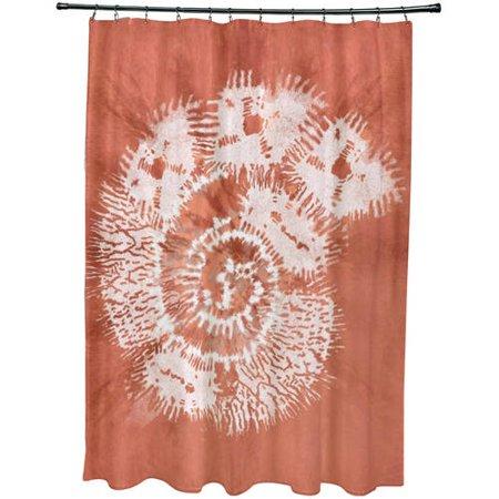 Simply Daisy 71 X 74 Conch Animal Print Shower Curtain