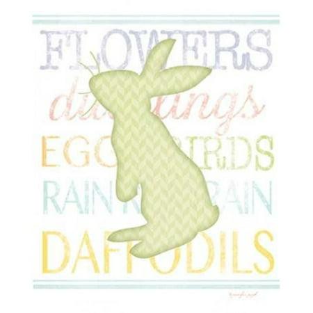Sagebrush Fine Art PDXJP4786SMALL Bunny III Poster Print by Jennifer Pugh, 11 x 14 - Small - image 1 de 1