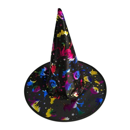 Halloween Hat New Masquerade Props Magician Wizard Hat Witch Color Gold Hat - image 1 de 6