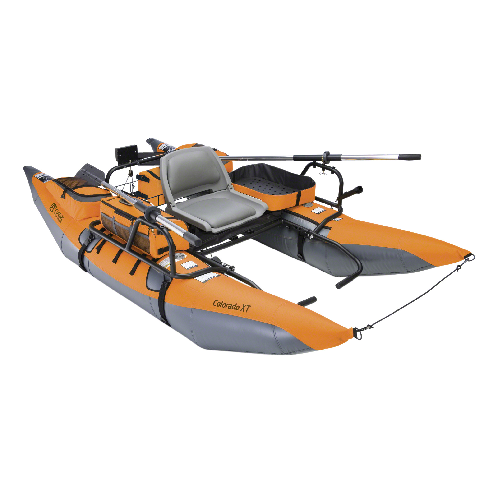 Classic Accessories Colorado XT Pontoon Fishing Boat, Pumpkin/Grey