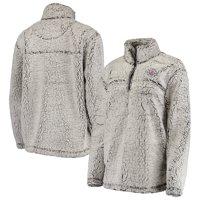 LA Clippers G-III Sports by Carl Banks Women's Sherpa Quarter-Zip Pullover Jacket - Gray