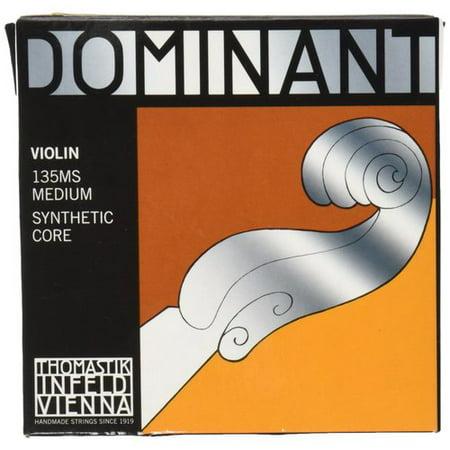 Thomastik-Infeld Dominant 135BMS Synthetic Core Violin Strings, Set of 4 w/Steel E, Medium Gauge - 4/4