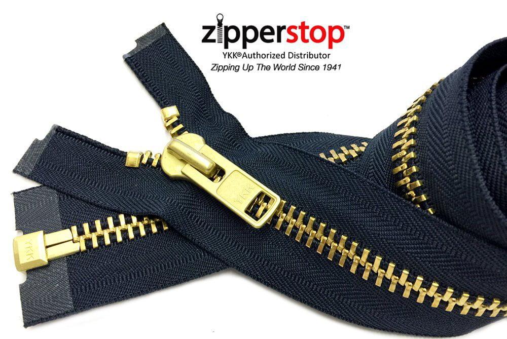 """New Brass Zipper 5/""""  Assorted Colors YKK"""